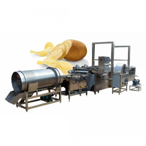 Automatic Continuous Frying Machinery Potato Chips / Fries Fryer Machine